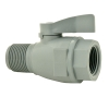 "3/4"" FNPT x 3/4"" MNPT Series 074 PVC Two-Way Ball Valve with EPDM Seals"