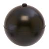 "5"" Diameter Bob® Black Polypropylene Round Float with 1/4""-20 SAE"