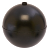 "6"" Diameter Bob® Black Polypropylene Round Float with 1/4""-20 SAE"