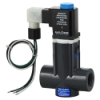 "1/4"" NPT W24 CPVC Direct Acting Solenoid Valve w/Viton™ Seals & Z-Cool DIN Connection w/18"" Wire Leads"