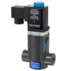 "1/4"" NPT R24 CPVC Direct Acting Solenoid Valve with Viton™ Seals & 1/2"" NPT DIN Connection"