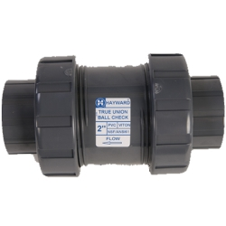"1-1/4"" Threaded/Socket TC Series PVC True Union Ball Check Valve"