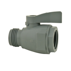 """3/4"""" FGHT x 3/4"""" MGHT Series 074 PVC Two-Way Ball Valve with Buna-N Seals"""