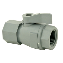 "3/4"" FNPT x 3/4"" FNPT Series 074 PVC Two-Way Ball Valve with Buna-N Seals"