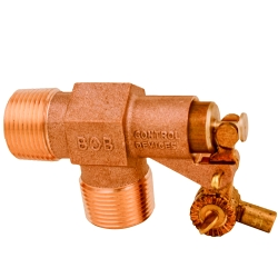 "1"" NPT Inlet x 1"" NPT Outlet BOB® Brass Float Valve"