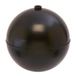 "5"" Diameter Bob® Black Polypropylene Round Float with 1/4""-20 SAE"