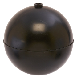 "6"" Diameter Bob® Black Polypropylene Round Float with 1/4""-20 SAE"
