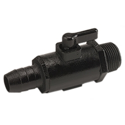 "3/4"" Hose Barb x 3/4"" MNPT Micro Valve with 1/2"" Through Hole"