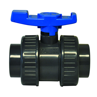 "4"" Socket PVC Economy True Union Ball Valve with EPDM O-rings"
