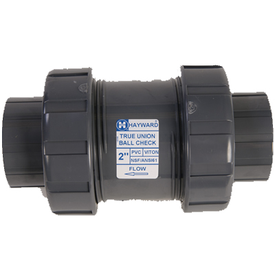 "1"" Threaded/Socket TC Series PVC True Union Ball Check Valve"