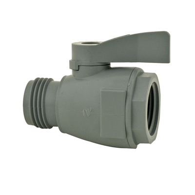 "3/4"" FGHT x 3/4"" MGHT Series 074 PVC Two-Way Ball Valve with Buna-N Seals"