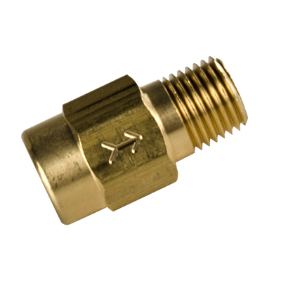 "1/4"" FNPT x 1/4"" MNPT Series 410 Brass Check Valve with Buna Seals - 1/3 PSI"
