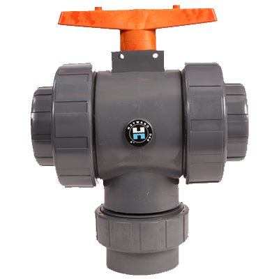 "3"" Socket TW Series 3-Way PVC True Union Valve"