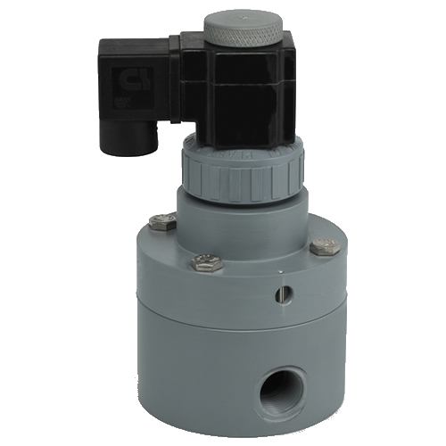 "1/2"" CPVC Pilot Operated Solenoid Valve with EPDM Seals"