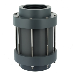 "3"" NPT PVC CKS Diaphragm Check Valve with EPDM Seals"