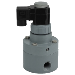 "1/2"" CPVC Pilot Operated Solenoid Valve with Viton™ Seals"