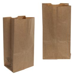 "6"" x 3-3/4"" x 11"" Brown Kraft Paper Bags"