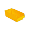 "11-5/8"" L x 6-5/8"" W x 4"" Hgt. Yellow Shelf Bin"
