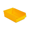 "11-5/8"" L x 11-1/8"" W x 4"" H Yellow Shelf Bin"