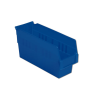 "11-5/8"" L x 4-1/8"" W x 6"" H Blue Shelf Bin"