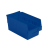 "11-5/8"" L x 6-5/8"" W x 6"" H Blue Shelf Bin"