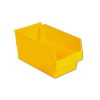 "11-5/8"" L x 6-5/8"" W x 6"" Hgt. Yellow Shelf Bin"