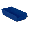 "17-7/8"" L x 8-3/8"" W x 4"" Hgt. Blue Shelf Bin"