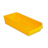 "17-7/8"" L x 8-3/8"" W x 4"" H Yellow Shelf bin"