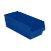 "17-7/8"" L x 6-5/8"" W x 6"" H Blue Shelf Bin"