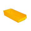 "17-7/8"" L x 8-3/8"" W x 6"" H Yellow Shelf Bin"