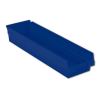 "23-5/8"" L x 8-3/8"" W x 4"" H Blue Shelf Bin"