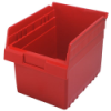 "11-5/8"" L x 8-3/8"" W x 8"" H Red Store-Max Shelf Bin"