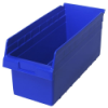 "17-7/8"" L x 8-3/8"" W x 8"" H Blue Store-Max Shelf Bin"