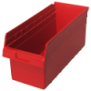 "17-7/8"" L x 8-3/8"" W x 8"" H Red Store-Max Shelf Bin"