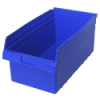 "17-7/8"" L x 11-1/8"" W x 8"" H Blue Store-Max Shelf Bin"