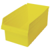 "17-7/8"" L x 11-1/8"" W x 8"" H Yellow Store-Max Shelf Bin"