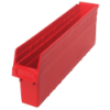 "23-5/8"" L x 4-3/8"" W x 8"" H Red Store-Max Shelf Bin"