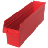 "23-5/8"" L x 6-5/8"" W x 8"" H Red Store-Max Shelf Bin"