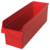 "23-5/8"" L x 8-3/8"" W x 8"" H Red Store-Max Shelf Bin"