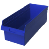 "23-5/8"" L x 11-1/8"" W x 8"" H Blue Store-Max Shelf Bin"