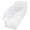 "23-5/8"" L x 11-1/8"" W x 8"" H Clear Store-Max Shelf Bin"