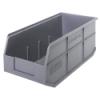 "18"" L x 8-1/4"" W x 7"" Hgt. Quantum® Gray  Stackable Shelf Bin"