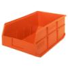 "18"" L x 11"" W x 7"" Hgt. Quantum® Orange  Stackable Shelf Bin"