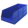 "20-1/2"" L x 8-1/4"" W x 7"" Hgt. Quantum® Blue Stackable Shelf Bin"