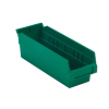 "11-5/8"" L x 4-1/8"" W x 4"" Hgt. Green Shelf Bin"