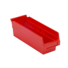 "11-5/8"" L x 4-1/8"" W x 4"" Hgt. Red Shelf Bin"
