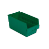 "11-5/8"" L x 6-5/8"" W x 6"" Hgt. Green Shelf Bin"
