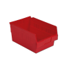 "11-5/8"" L x 8-3/8"" W x 6"" Hgt. Red Shelf Bin"