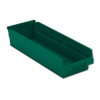 "17-7/8"" L x 6-5/8"" W x 4"" Hgt. Green Shelf Bin"