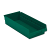 "17-7/8"" L x 8-3/8"" W x 4"" H Green Shelf bin"